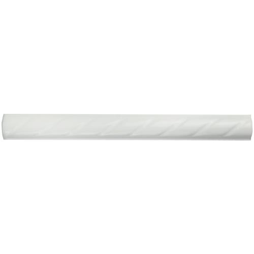 "White Rope 1""x9-3/4"" Ceramic Pencil W Trim"