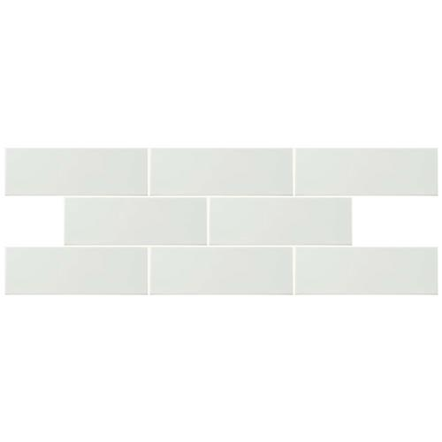 "Park Slope Glossy White 4""x11-3/4"" Ceramic W Tile"