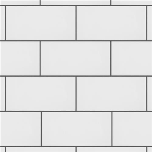 "Park Slope Subway Glossy White 3""x6"" Ceramic W Tile"