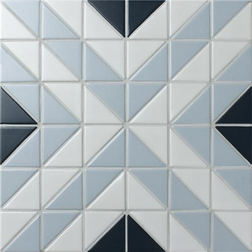 "Picture of Tre Apex Blue Ice Mix 10-3/4"" x 10-3/4"" Porcelain Mosaic"