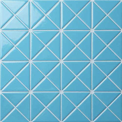 "Picture of Tre Crossover Baby Blue 10-1/8""x10-1/8"" Porcelain Mosaic"