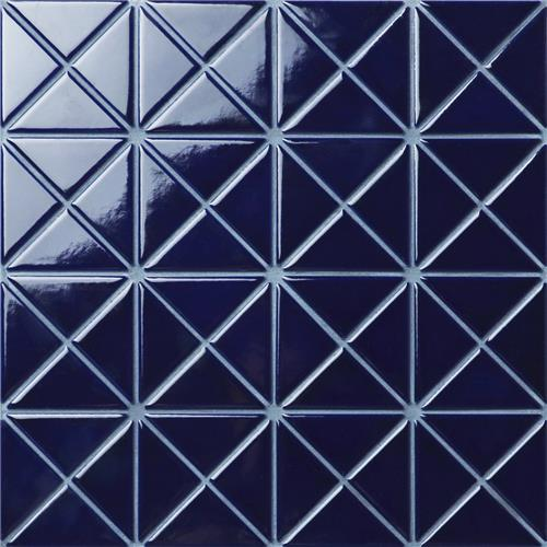 "Picture of Tre Crossover Cobalt Blue 10-1/8""x10-1/8"" Porcelain Mosaic"