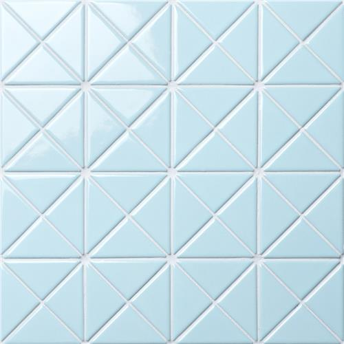 "Picture of Tre Crossover Glossy Powder Blue 10-1/8""x10-1/8"" Porc Mos"