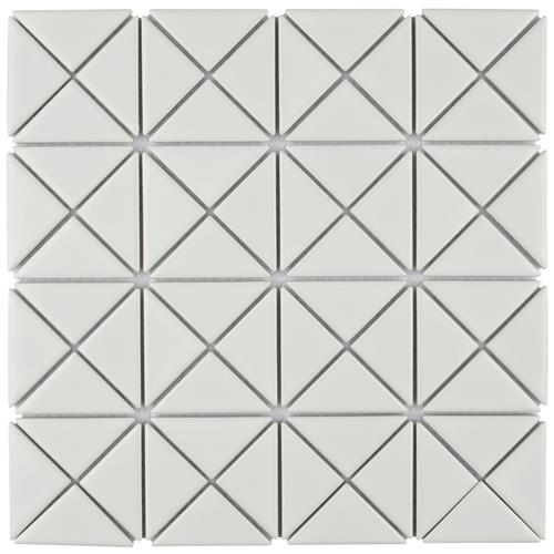 "Picture of Tre Crossover Glossy White 10-1/8""x 10-1/8"" Porcelain Mosaic"