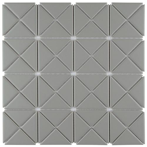 "Picture of Tre Crossover Summit Grey 10-1/8"" x 10-1/8"" Porcelain Mosaic"