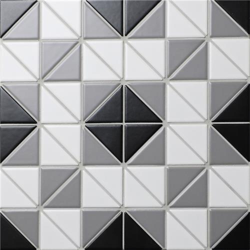 "Picture of Tre Square Classic Mix 10-3/4""x10-3/4"" Porcelain Mosaic"