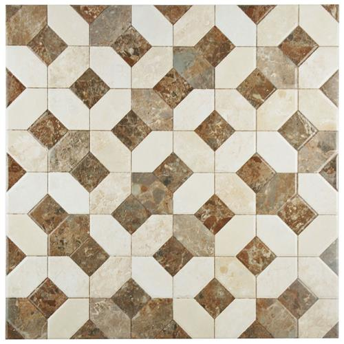 "Picture of Caprice Marmol Beige 17-3/4 in x 17-3/4"" Ceramic F/W Tile"