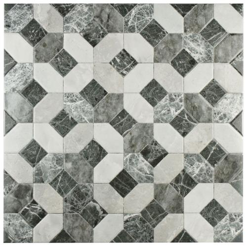 "Picture of Caprice Marmol Gris 17-3/4 in x 17-3/4"" Ceramic F/W Tile"