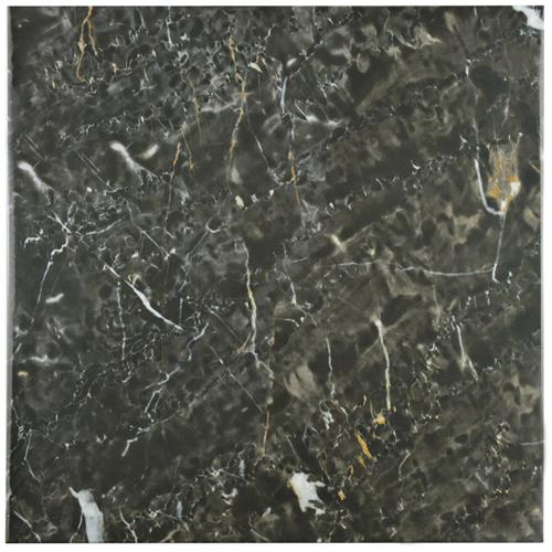 "Picture of 17.75""x17.75"" Donna Nero Ceramic Wall and Floor Tile"