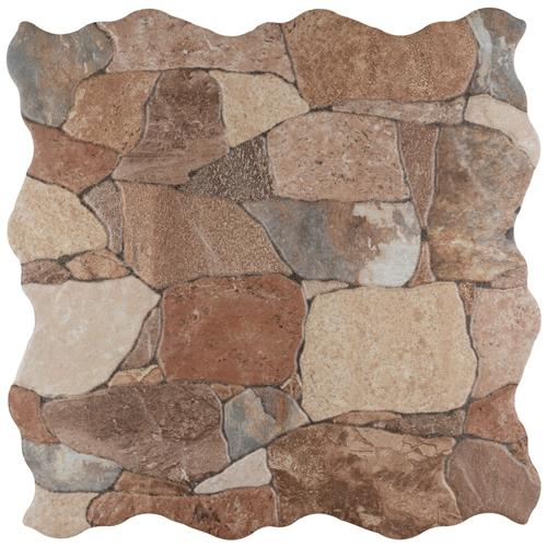 "Picture of 17.75""x17.75"" Attica Caldera Ceramic Floor and Wall Tile"
