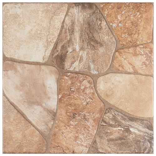 "Picture of 17.75""x 17.75"" Lyon Beige Ceramic Floor and Wall Tile"