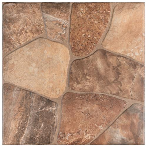"Picture of 17.75""x 17.75"" Lyon Caliza Ceramic Floor and Wall Tile"