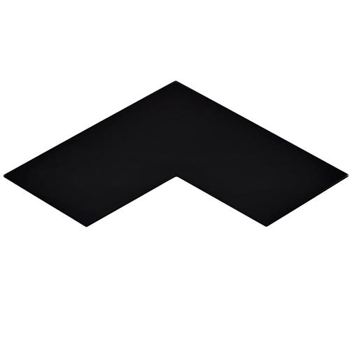 "Picture of 3.38"" x 11.75"" Boomerang Black Glossy Cer Wall Tile"