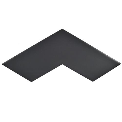 "Picture of 3.38"" x 11.75"" Boomerang Black Satin Ceramic Wall/Floor Tile"