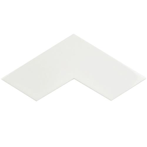 "Picture of 3.38"" x 11.75"" Boomerang White Glossy Cer Wall Tile"