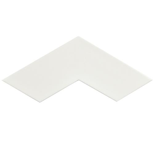 "Picture of 3.38"" x 11.75"" Boomerang White Satin Ceramic Wall/Floor Tile"