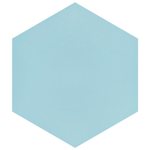"Picture of Textile Basic Hex Aqua 8-5/8""x9-7/8"" Porcelain F/W Tile"