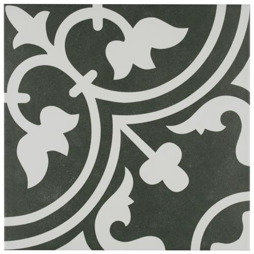 "Picture of Arte Black 9-3/4""x9-3/4"" Porcelain F/W Tile"