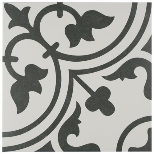 "Picture of Arte White 9-3/4""x9-3/4"" Porcelain F/W Tile"