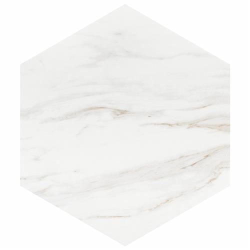 "Picture of Eterno Carrara Hex 8-5/8""x9-7/8"" Porcelain F/W Tile"