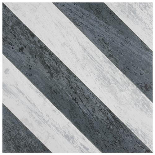 "Picture of Cassis Sete Black 9-3/4"" x 9-3/4"" Porcelain F/W Tile"