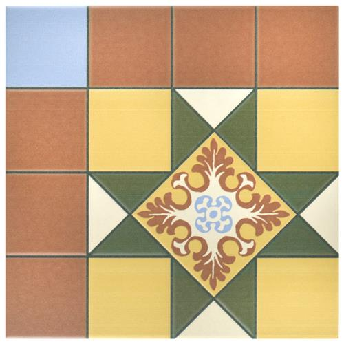 "Picture of Derby Green 9-3/4""x9-3/4"" Porcelain F/W Tile"