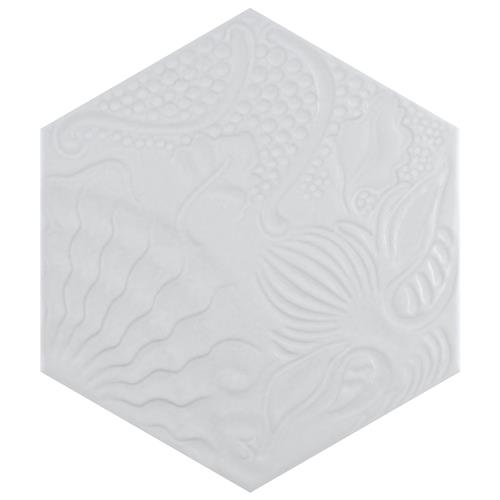 "Picture of Gaudi Lux Hex White 8-5/8""x9-7/8"" Porcelain Floor/Wall Tile"