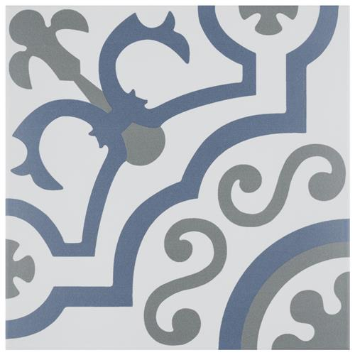 "Picture of Hidraulico Ducados 9-3/4""x9-3/4"" Porcelain F/W Tile"