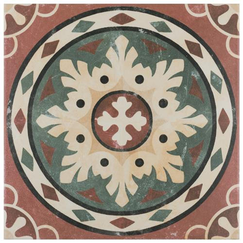 "Picture of Habana Rosso 9-3/4""x9-3/4"" Porcelain F/W Tile"