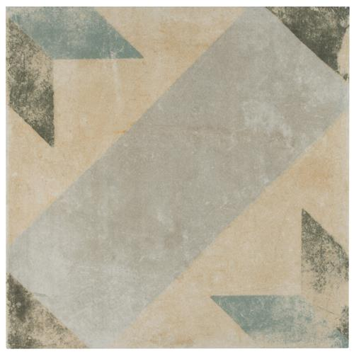 "Picture of Pompei Star Blue 9-3/4""x9-3/4"" Porcelain F/W Tile"