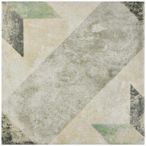 "Picture of Pompei Star Green 9-3/4""x9-3/4"" Porcelain F/W Tile"