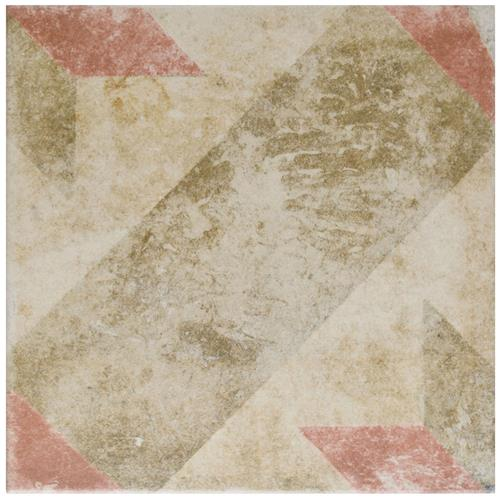 "Picture of Pompei Star Red 9-3/4""x9-3/4"" Porcelain F/W Tile"