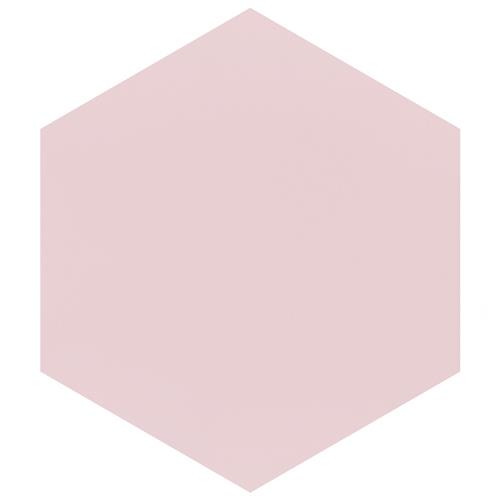 "Picture of Textile Basic Hex Rose 8-5/8""x9-7/8"" Porcelain F/W Tile"