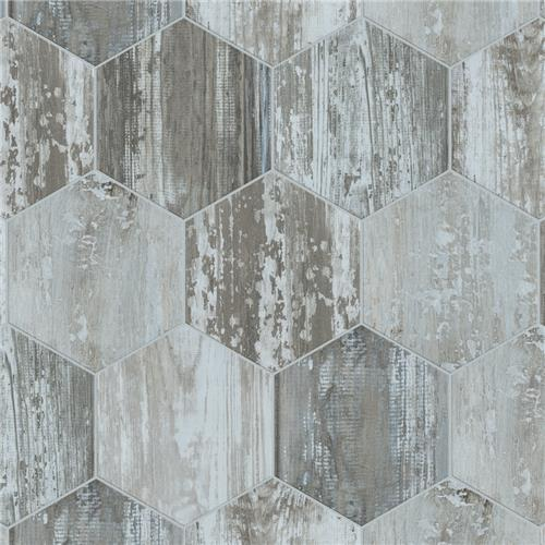 "Picture of Suomi Hex Grey 8-5/8"" x 9-7/8"" Porcelain F/W Tile"