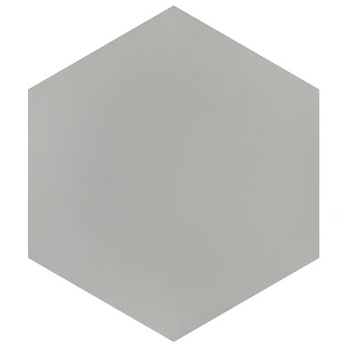 "Picture of Textile Basic Hex Silver 8-5/8""x9-7/8"" Porcelain F/W Tile"