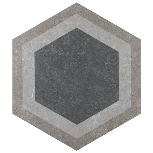 "Picture of Traffic Hex Combi Grey 8-5/8""x9-7/8"" Porcelain F/W Tile"