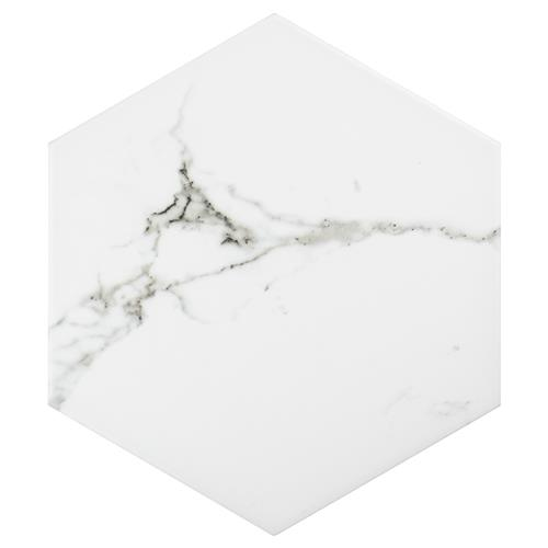 "Picture of Timeless Calacatta Hex 8-5/8"" x 9-7/8"" Porc F/W Tile"
