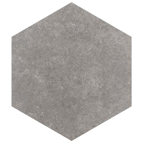 "Picture of Traffic Hex Grey 8-5/8""x9-7/8"" Porcelain F/W Tile"