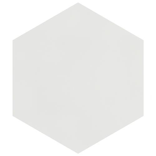 "Picture of Textile Basic Hex White 8-5/8""x9-7/8"" Porcelain F/W Tile"