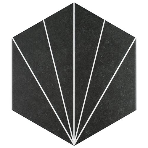"Picture of Aster Hex Nero  8-5/8""x9-7/8"" Porcelain F/W Tile"