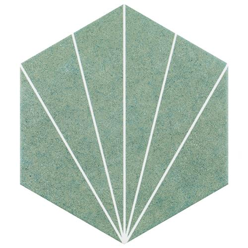 "Picture of Aster Hex Verde 8-5/8""x9-7/8"" Porcelain F/W Tile"