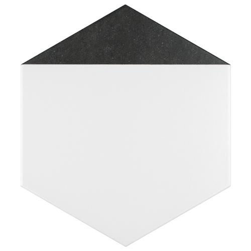 "Picture of Peak Hex Nero 8-5/8""x9-7/8"" Porcelain F/W Tile"