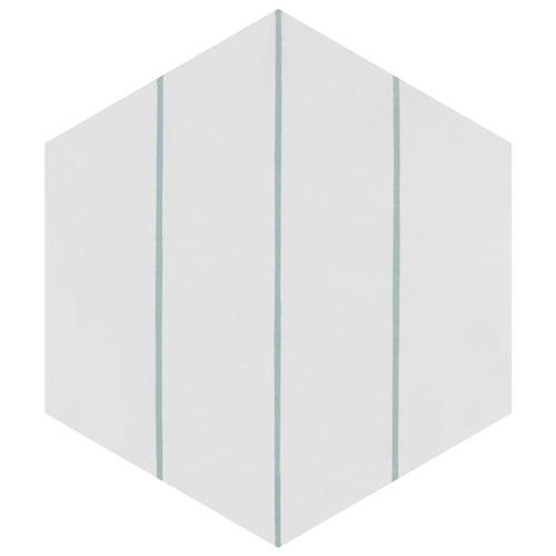 "Picture of Porto Savona Hex Aqua 8-5/8""x9-7/8"" Porcelain F/W Tile"