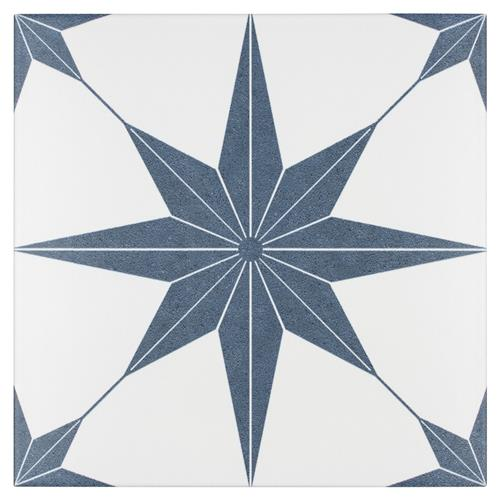 "Picture of Stella Azul 9-3/4""x9-3/4"" Porcelain F/W Tile"
