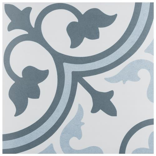"Picture of Amberes Azul 12-3/8""x12-3/8"" Ceramic F/W Tile"