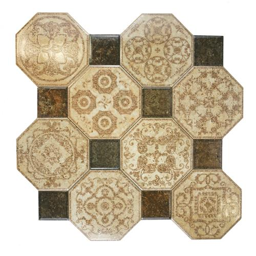 "Picture of 17-3/4""x17-3/4"" Ditte Marron Ceramic Floor Tile"