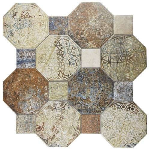 "Picture of 17.75""x17.75"" Silex Decor Ceramic Floor/Wall Tile"