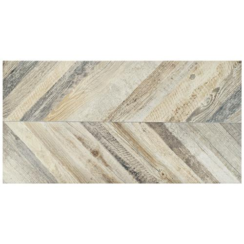 "Picture of Stratos Chevron Madera 17-5/8""x35-3/8"" Porc F/W Tile"