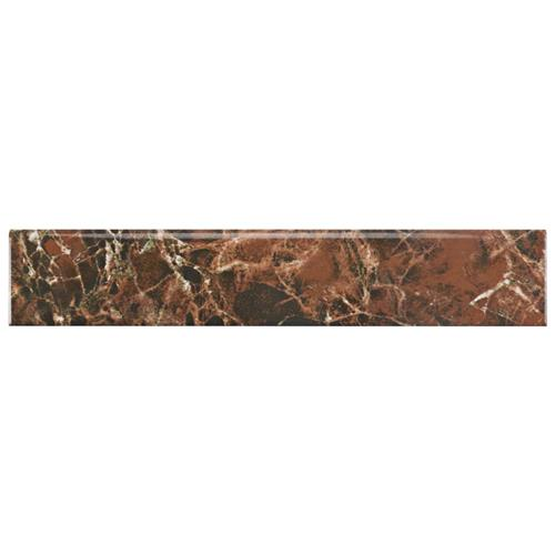 "Picture of Eclipse Marron 3-1/4""x17-3/4"" Ceramic F/W Bullnose Trim"