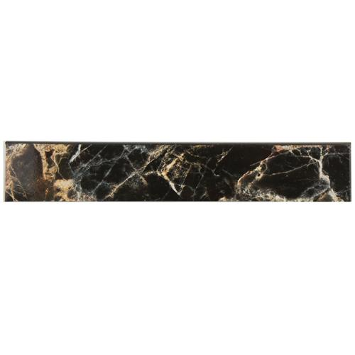 "Picture of Eclipse Negro 3-1/4""x17-3/4"" Ceramic F/W Bullnose Trim"
